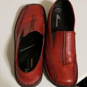 Josef seibel red leather European comfort shoes